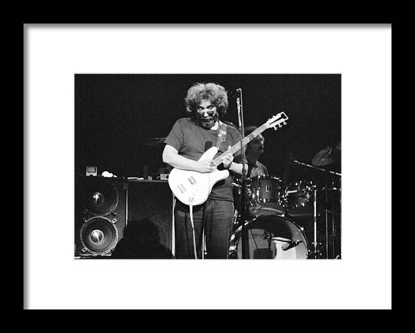 Black And White Framed Print featuring the photograph 1977, Atlanta, Jerry Garcia by Michael Ochs Archives