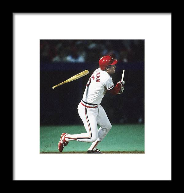 St. Louis Cardinals Framed Print featuring the photograph 1987 World Series Minnesota Twins V St 1987 by Ronald C. Modra/sports Imagery