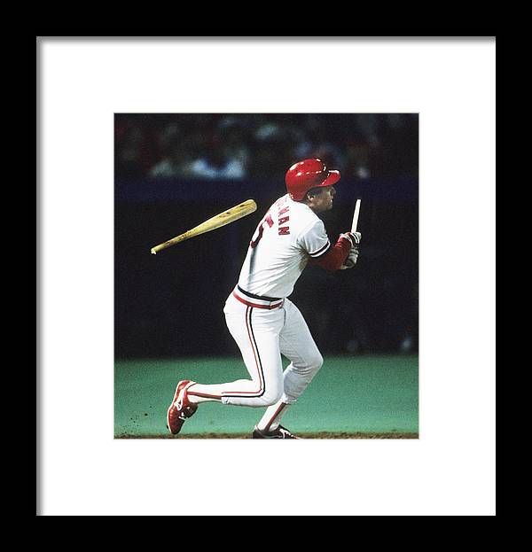 St. Louis Cardinals Framed Print featuring the photograph 1987 World Series Minnesota Twins V St by Ronald C. Modra/sports Imagery