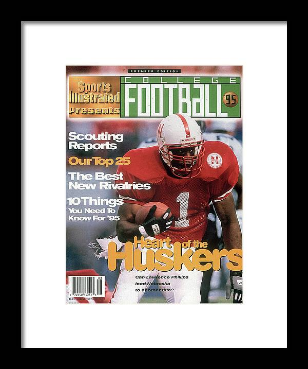 Motion Framed Print featuring the photograph 1995 College Football Preview Issue Sports Illustrated Cover by Sports Illustrated