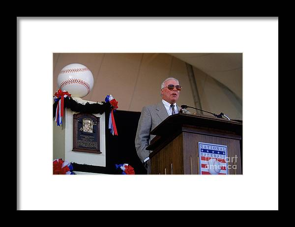 Cooperstown Framed Print featuring the photograph 1995 Cooperstown Hall Of Fame Inductions by Rich Pilling