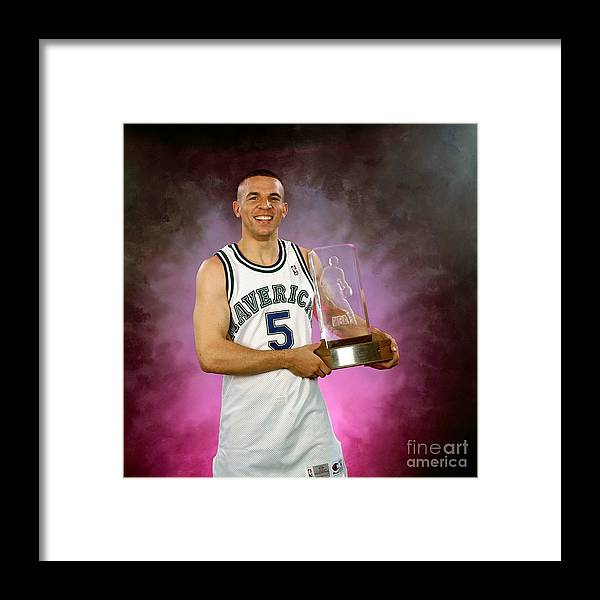 Nba Pro Basketball Framed Print featuring the photograph 1995 Nba Rookie Of The Year - Jason Kidd by Lou Capozzola