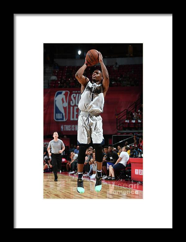 Nba Pro Basketball Framed Print featuring the photograph 2017 Las Vegas Summer League - by Garrett Ellwood