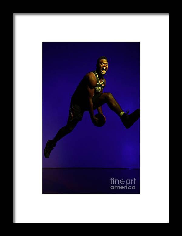 Nba Pro Basketball Framed Print featuring the photograph 2019 Nba Rookie Photo Shoot by Jesse D. Garrabrant