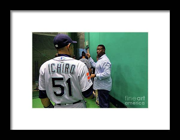 Following Framed Print featuring the photograph 2019 Opening Series Oakland Athletics 2 by Alex Trautwig