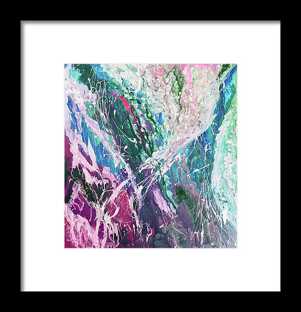 Art Framed Print featuring the digital art Abstract Background by Balticboy