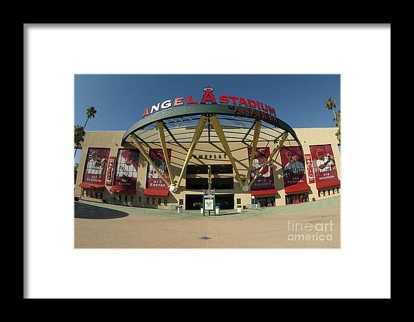 American League Baseball Framed Print featuring the photograph Angel Stadium Of Anaheim by Doug Benc
