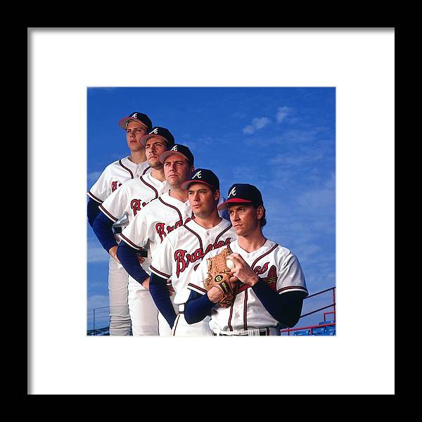 John Smoltz Framed Print featuring the photograph Atlanta Braves by Ronald C. Modra/sports Imagery
