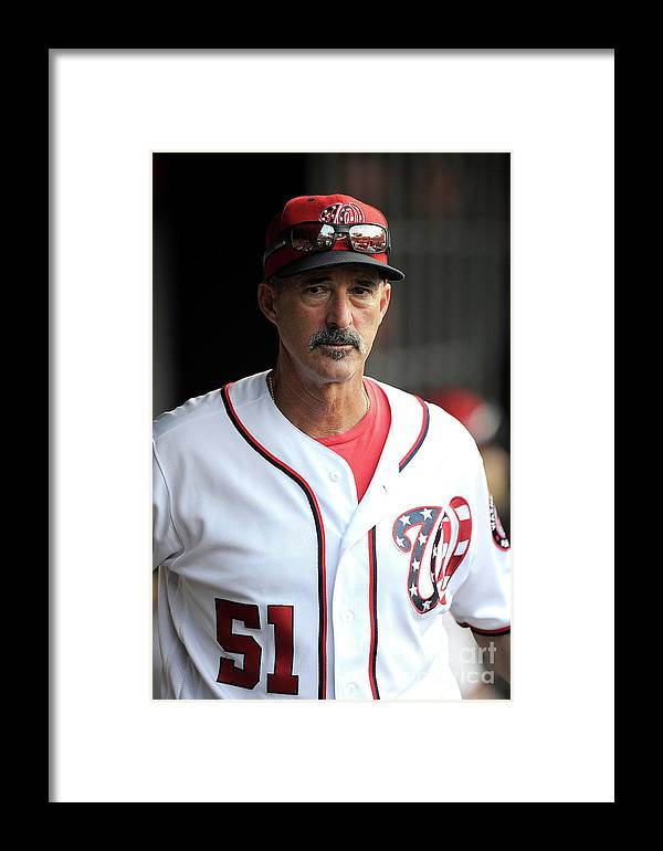Ninth Inning Framed Print featuring the photograph Atlanta Braves V Washington Nationals 2 by Greg Fiume