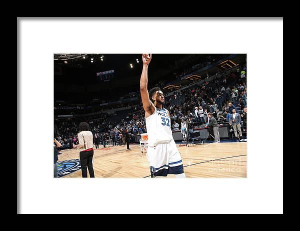 Nba Pro Basketball Framed Print featuring the photograph Atlanta Hawks V Minnesota Timberwolves by David Sherman