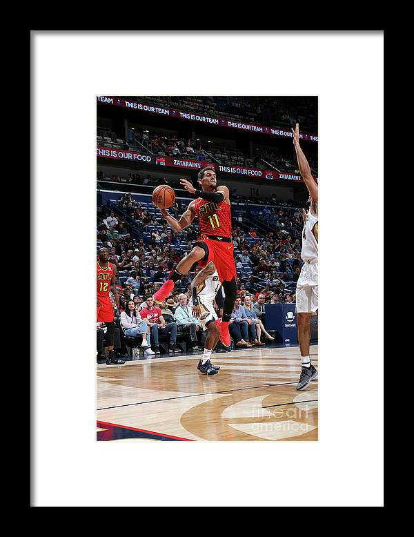 Smoothie King Center Framed Print featuring the photograph Atlanta Hawks V New Orleans Pelicans by Layne Murdoch Jr.