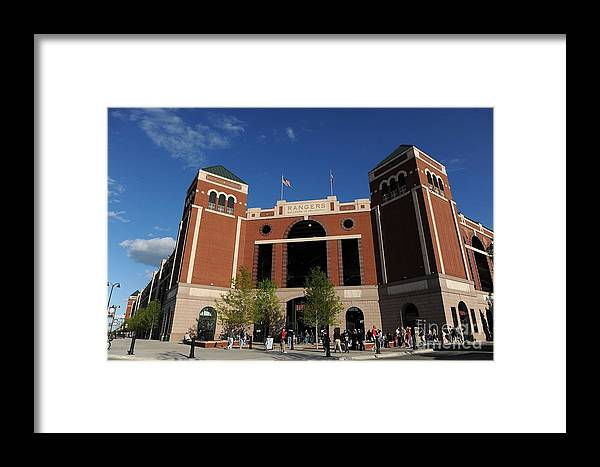 American League Baseball Framed Print featuring the photograph Baltimore Orioles V Texas Rangers by Ronald Martinez