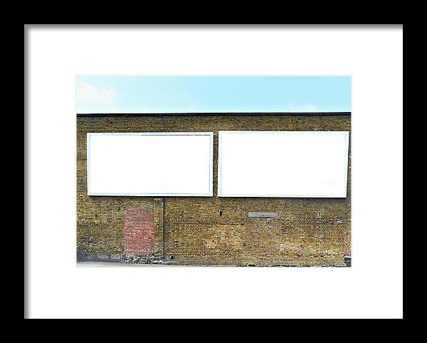 Empty Framed Print featuring the photograph 2 Blank Billboards by Ben Richardson
