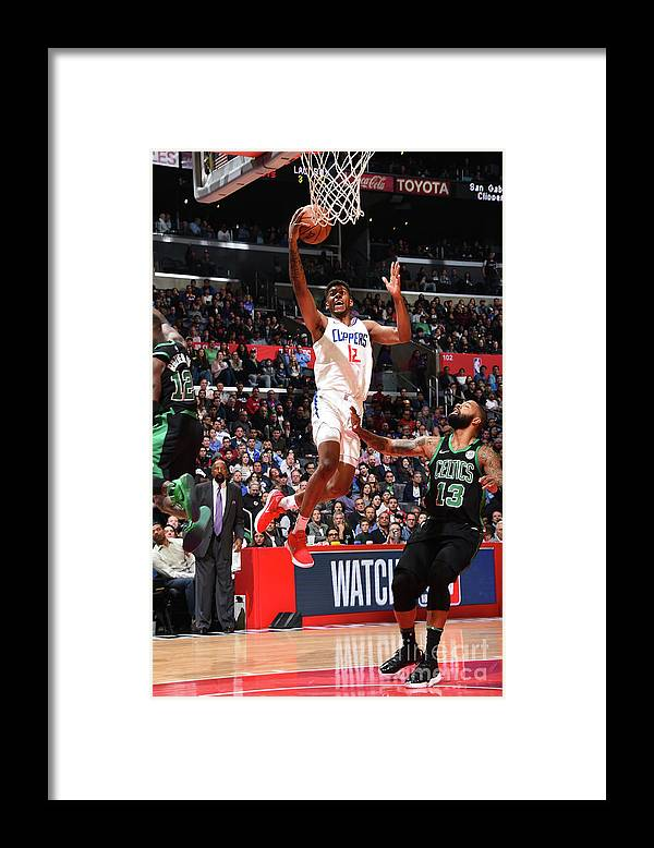 Nba Pro Basketball Framed Print featuring the photograph Boston Celtics V La Clippers by Andrew D. Bernstein