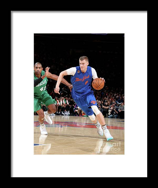 Nba Pro Basketball Framed Print featuring the photograph Boston Celtics V New York Knicks by Nathaniel S. Butler