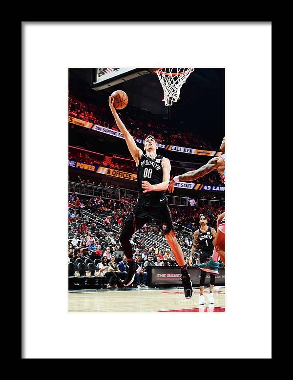 Atlanta Framed Print featuring the photograph Brooklyn Nets V Atlanta Hawks by Scott Cunningham