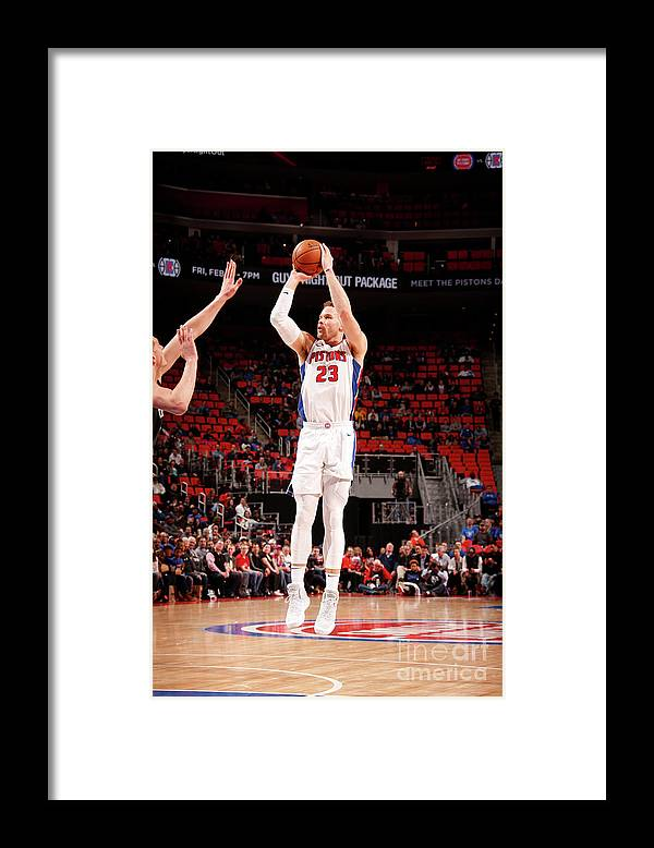 Nba Pro Basketball Framed Print featuring the photograph Brooklyn Nets V Detroit Pistons by Brian Sevald