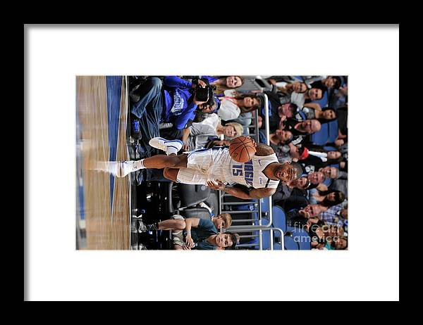 Nba Pro Basketball Framed Print featuring the photograph Brooklyn Nets V Orlando Magic by Gary Bassing