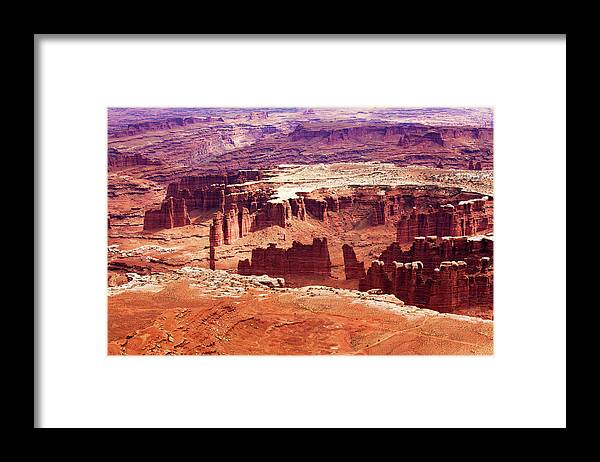 Shadow Framed Print featuring the photograph Canyonlands National Park, Colorado by Lucynakoch