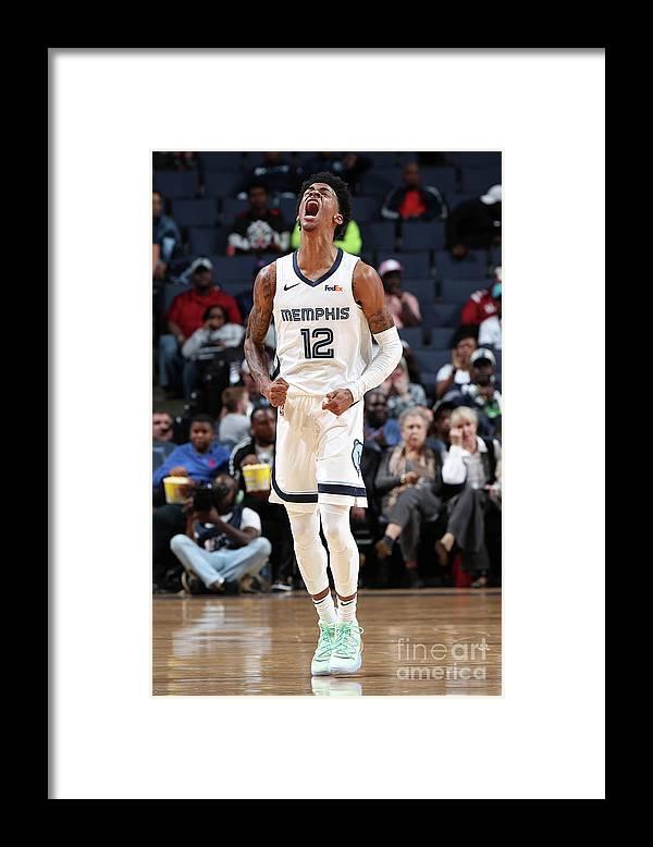 Nba Pro Basketball Framed Print featuring the photograph Charlotte Hornets V Memphis Grizzlies by Joe Murphy
