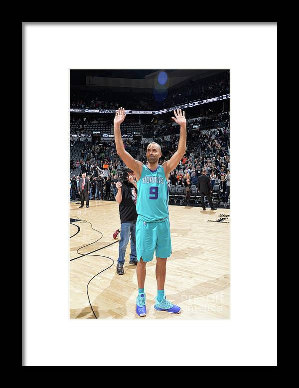 Crowd Framed Print featuring the photograph Charlotte Hornets V San Antonio Spurs by Mark Sobhani