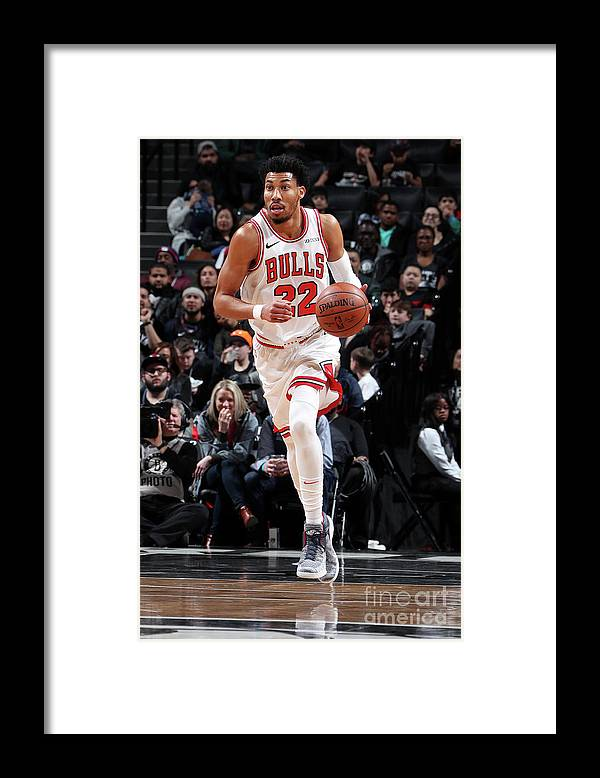 Chicago Bulls Framed Print featuring the photograph Chicago Bulls V Brooklyn Nets by Nathaniel S. Butler