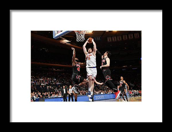 Nba Pro Basketball Framed Print featuring the photograph Chicago Bulls V New York Knicks by Jesse D. Garrabrant