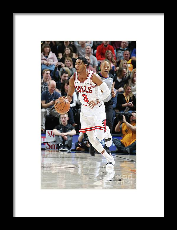 Nba Pro Basketball Framed Print featuring the photograph Chicago Bulls V Utah Jazz by Melissa Majchrzak