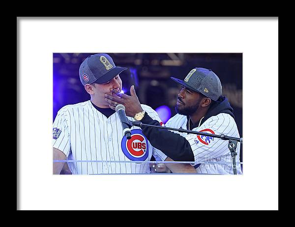 Crowd Framed Print featuring the photograph Chicago Cubs Victory Celebration 2 by Jonathan Daniel