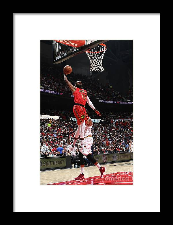 Atlanta Framed Print featuring the photograph Cleveland Cavaliers V Atlanta Hawks by Kevin Liles