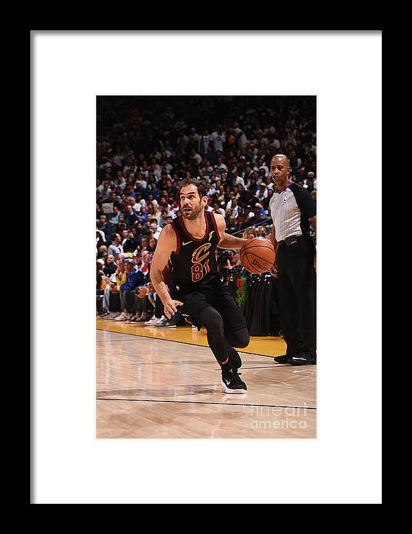 Nba Pro Basketball Framed Print featuring the photograph Cleveland Cavaliers V Golden State by Noah Graham