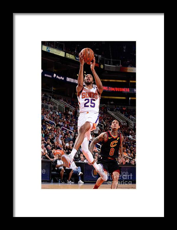 Nba Pro Basketball Framed Print featuring the photograph Cleveland Cavaliers V Phoenix Suns by Barry Gossage