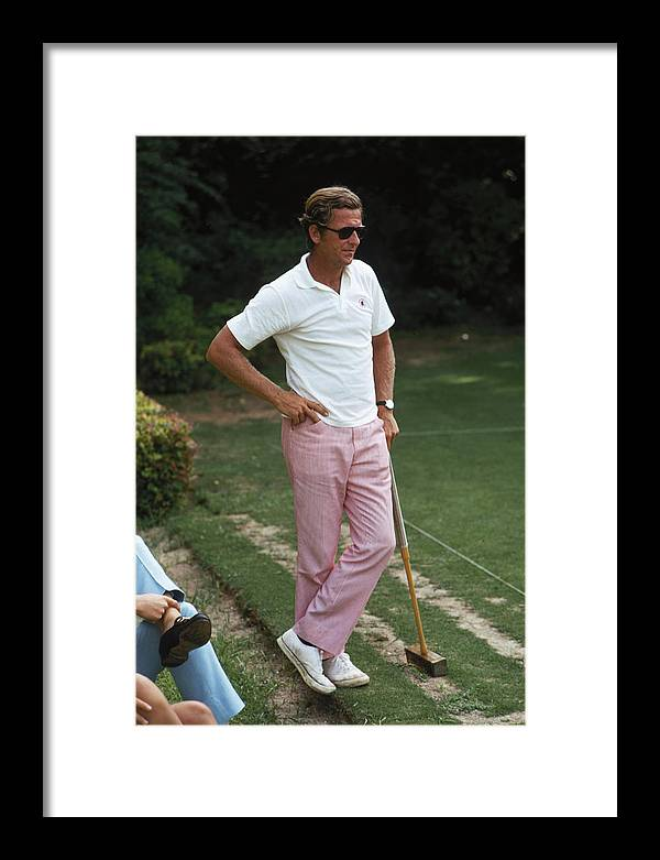 People Framed Print featuring the photograph Croquet by Slim Aarons