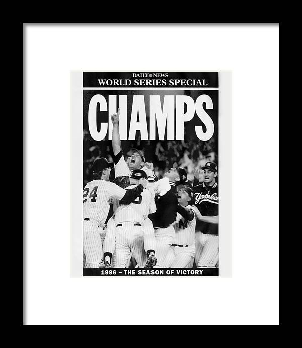 Celebration Framed Print featuring the photograph Daily News Front Page 2 by New York Daily News Archive