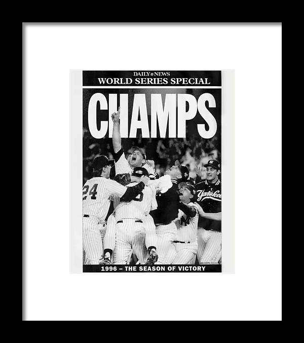 Celebration Framed Print featuring the photograph Daily News Front Page by New York Daily News Archive