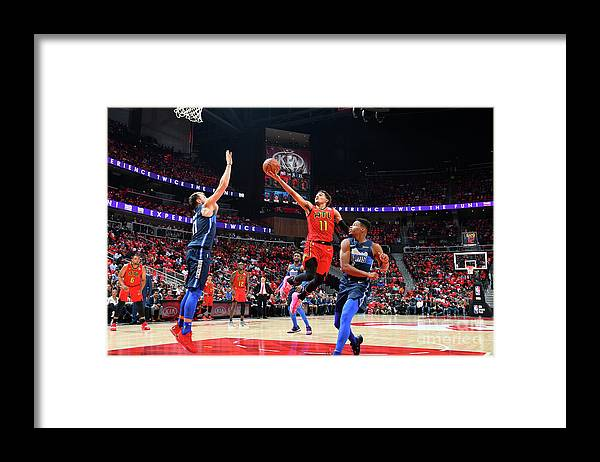 Atlanta Framed Print featuring the photograph Dallas Mavericks V Atlanta Hawks by Scott Cunningham