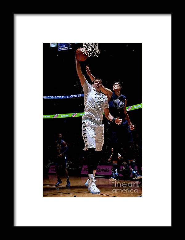 Nba Pro Basketball Framed Print featuring the photograph Dallas Mavericks V Denver Nuggets by Bart Young