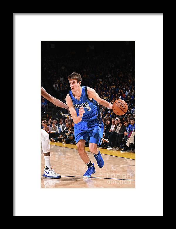 Nba Pro Basketball Framed Print featuring the photograph Dallas Mavericks V Golden State Warriors by Noah Graham