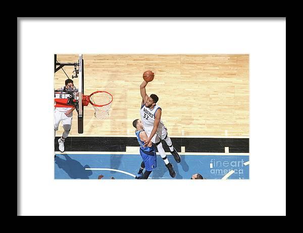 Nba Pro Basketball Framed Print featuring the photograph Dallas Mavericks V Minnesota by David Sherman