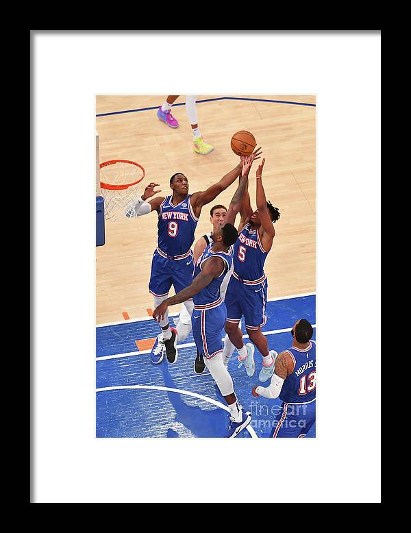 Nba Pro Basketball Framed Print featuring the photograph Dallas Mavericks V New York Knicks by Jesse D. Garrabrant