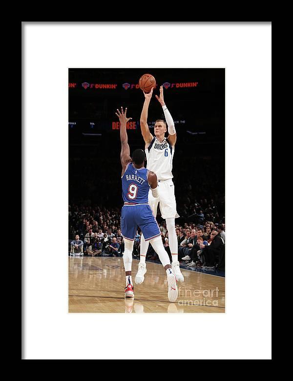 Nba Pro Basketball Framed Print featuring the photograph Dallas Mavericks V New York Knicks by Nathaniel S. Butler