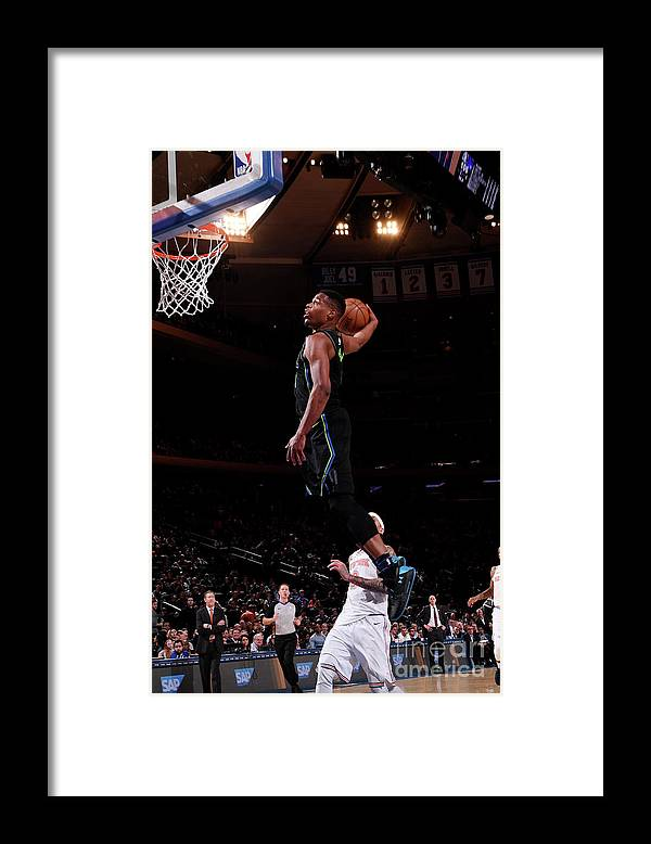 Sports Ball Framed Print featuring the photograph Dallas Mavericks V New York Knicks by Nba Photos