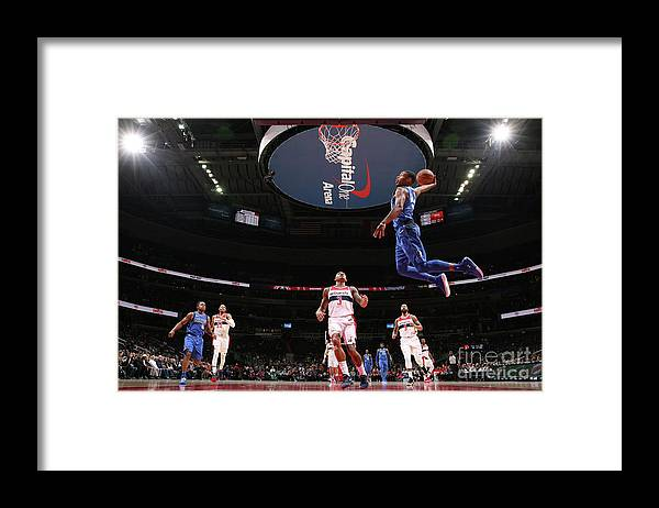 Nba Pro Basketball Framed Print featuring the photograph Dallas Mavericks V Washington Wizards by Ned Dishman
