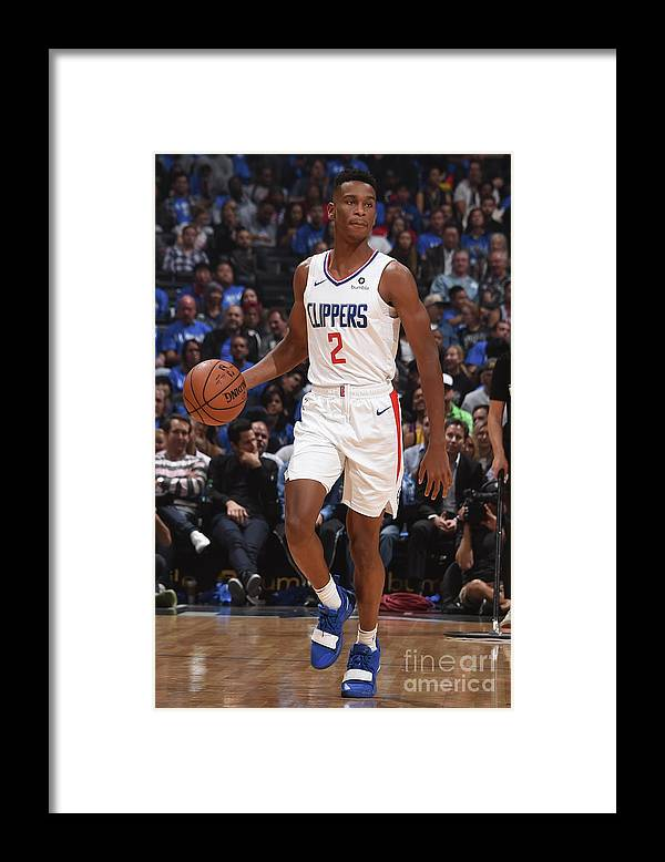 Nba Pro Basketball Framed Print featuring the photograph Denver Nuggets V La Clippers by Adam Pantozzi