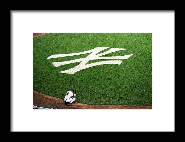Grass Framed Print featuring the photograph Derek Jeter 2 by Jamie Squire