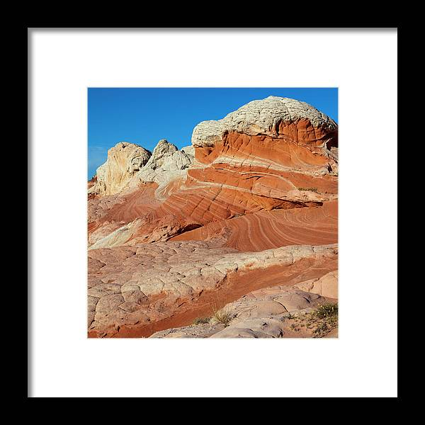 Scenics Framed Print featuring the photograph Desert Landscape by Lucynakoch