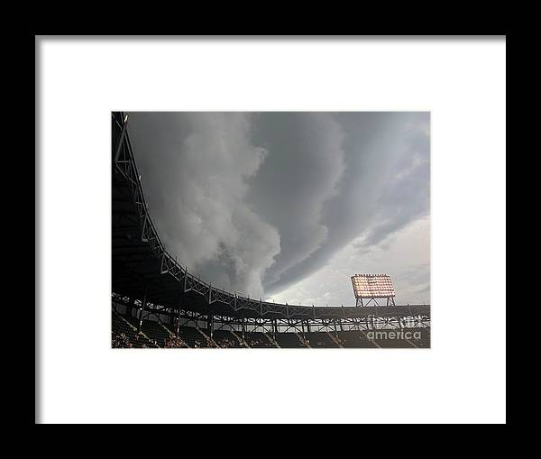 American League Baseball Framed Print featuring the photograph Detroit Tigers V Chicago White Sox by David Banks