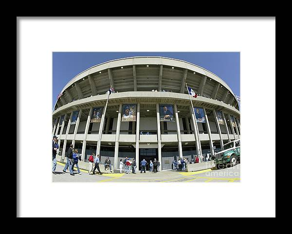 American League Baseball Framed Print featuring the photograph Detroit Tigers V Kansas City Royals by Tim Umphrey
