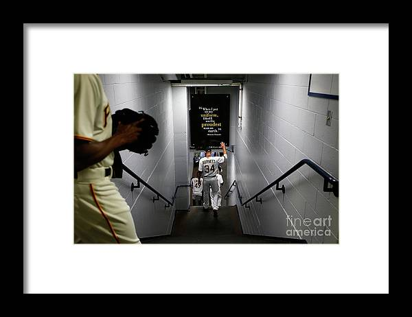 American League Baseball Framed Print featuring the photograph Detroit Tigers V Pittsburgh Pirates by Jared Wickerham