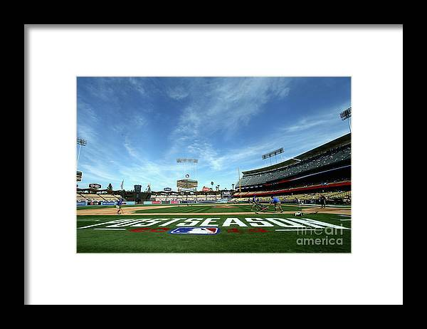 American League Baseball Framed Print featuring the photograph Division Series - St Louis Cardinals V by Stephen Dunn